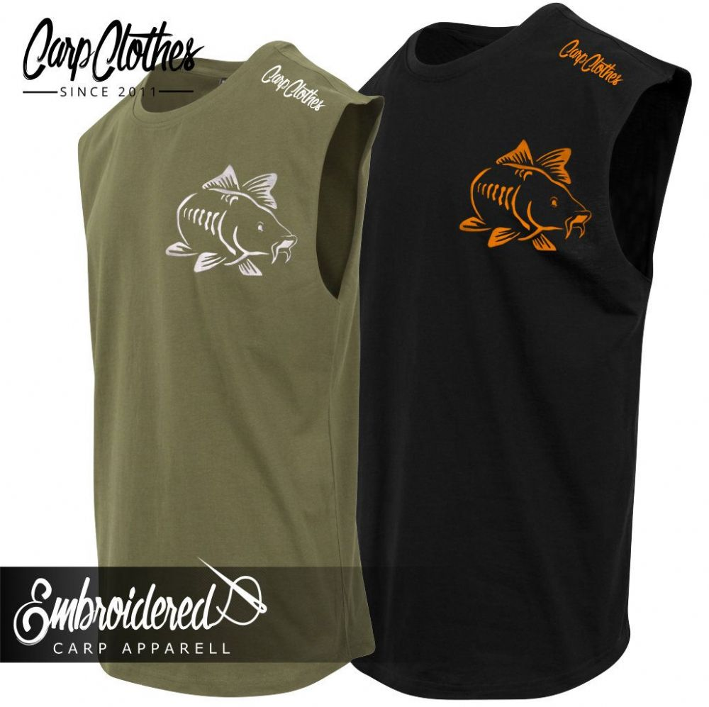 003 EMBROIDERED SLEEVELESS T-SHIRT